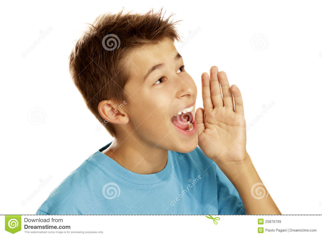 boy screaming stock image image of announcement calling 25876709