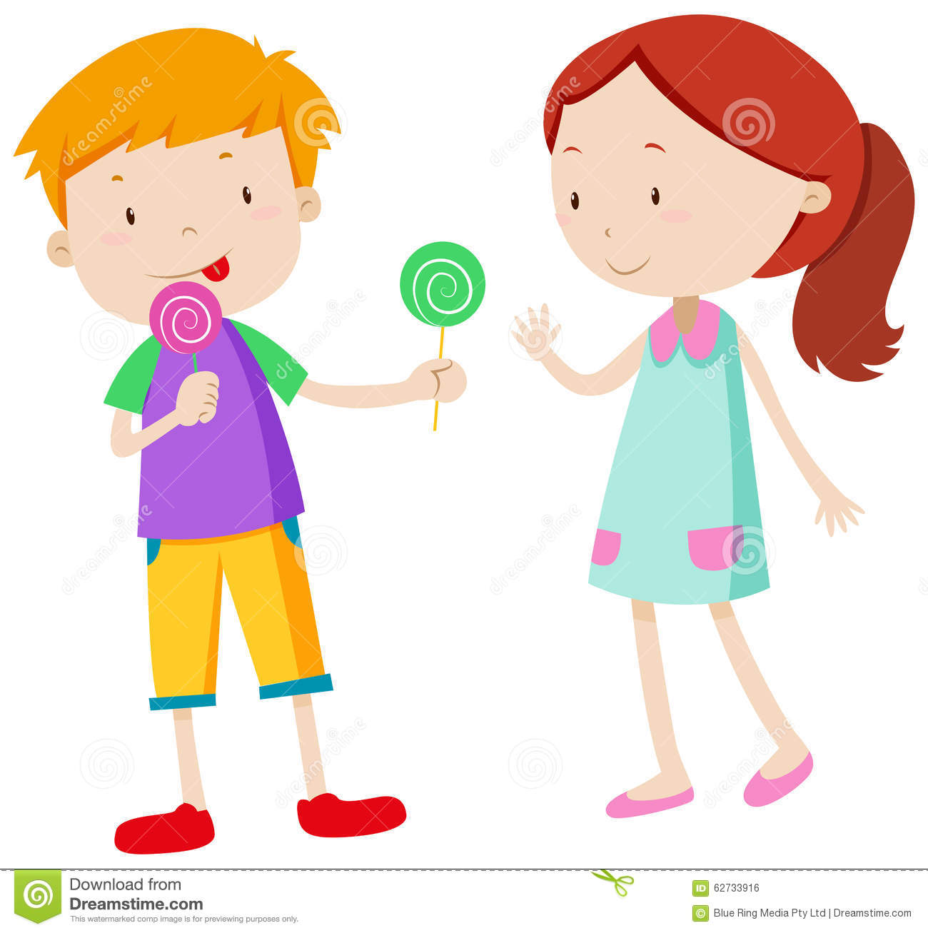 boy sharing candy with the girl stock vector illustration of clip rh dreamstime com sharing ideas clip art profit sharing clipart
