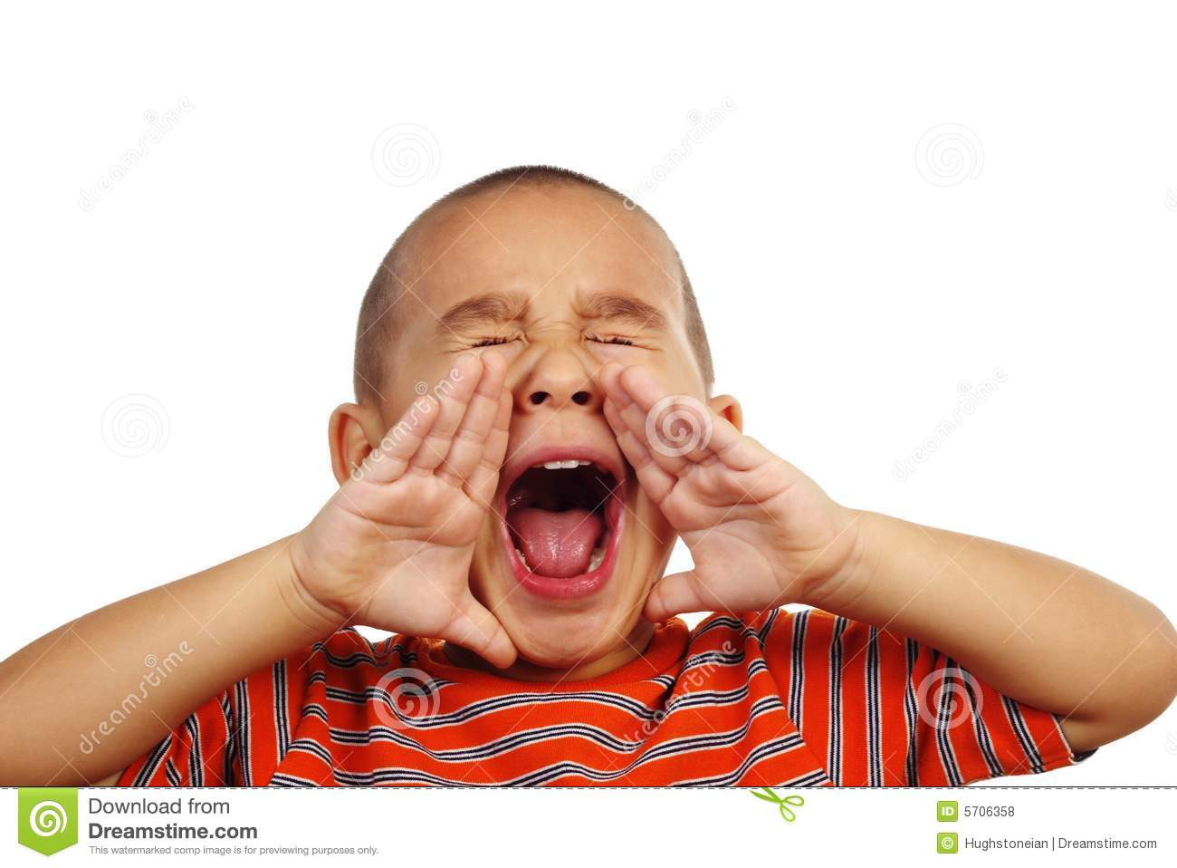 Boy Shouting Royalty Free Stock Photos - Image: 5706358