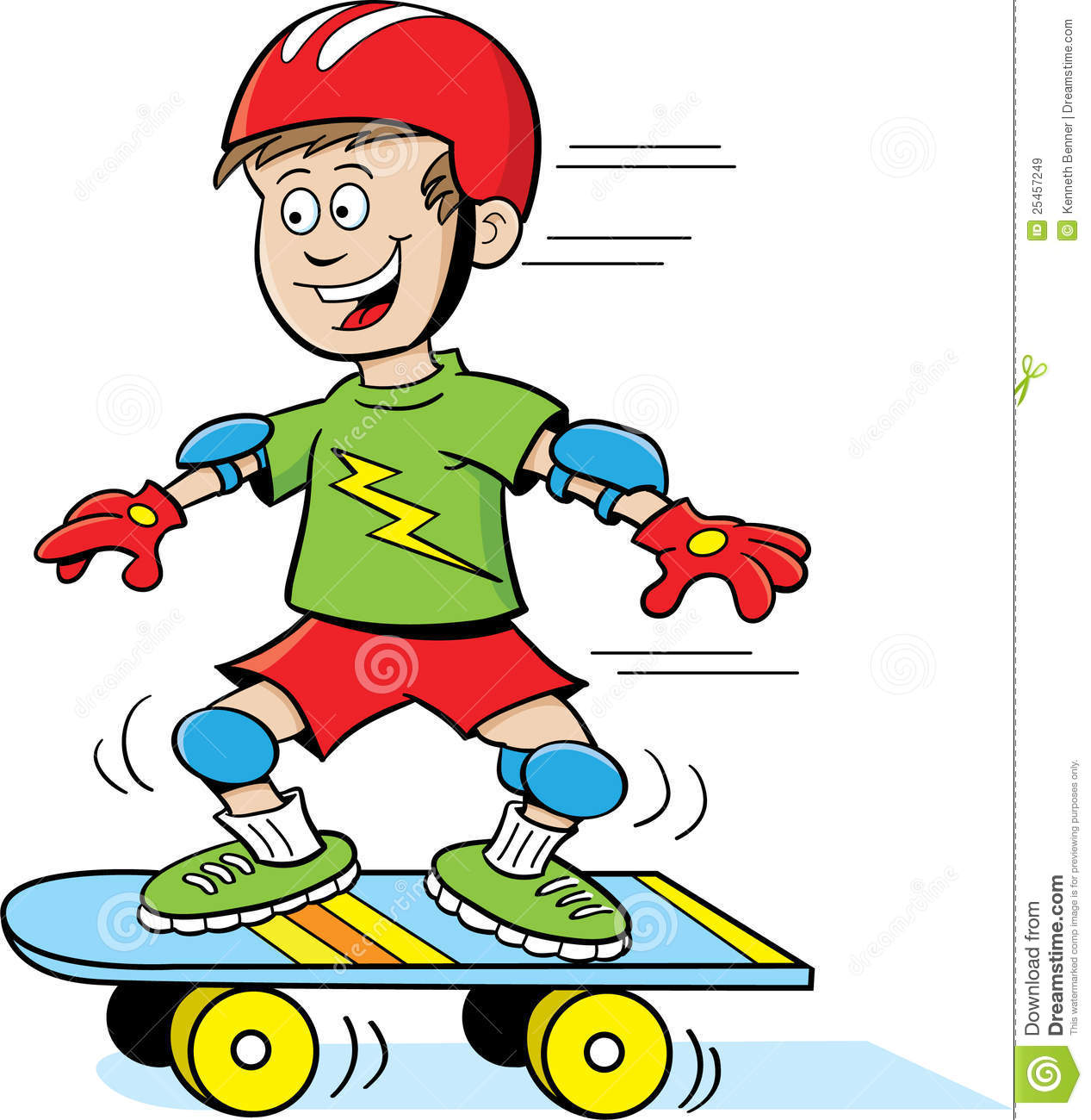Boy On Skateboard Royalty Free Stock Images - Image: 25457249