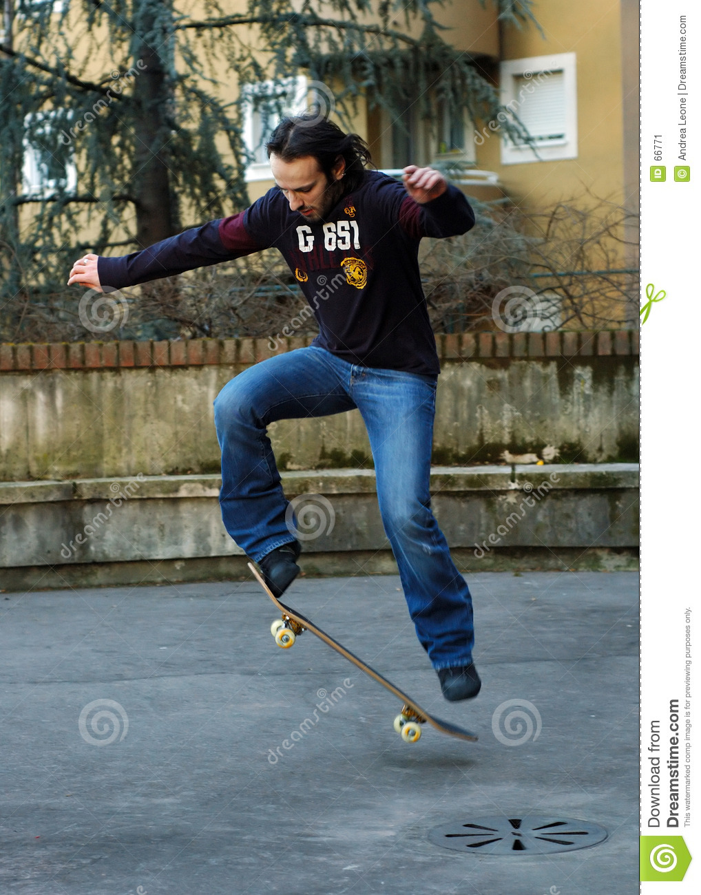 Boy skateboarding II
