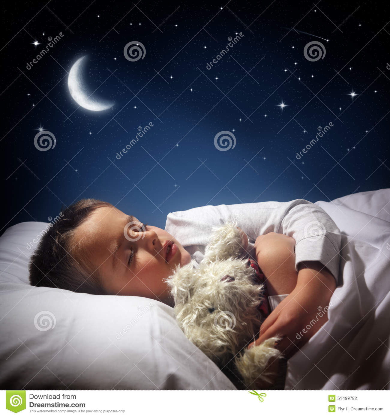 Boy sleeping and dreaming stock photo. Image of blue ...