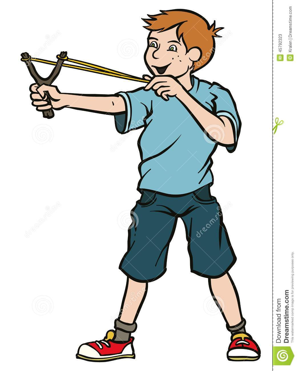 boy with slingshot stock vector image 45792323 clip art anteilnahme clip art anti shapes