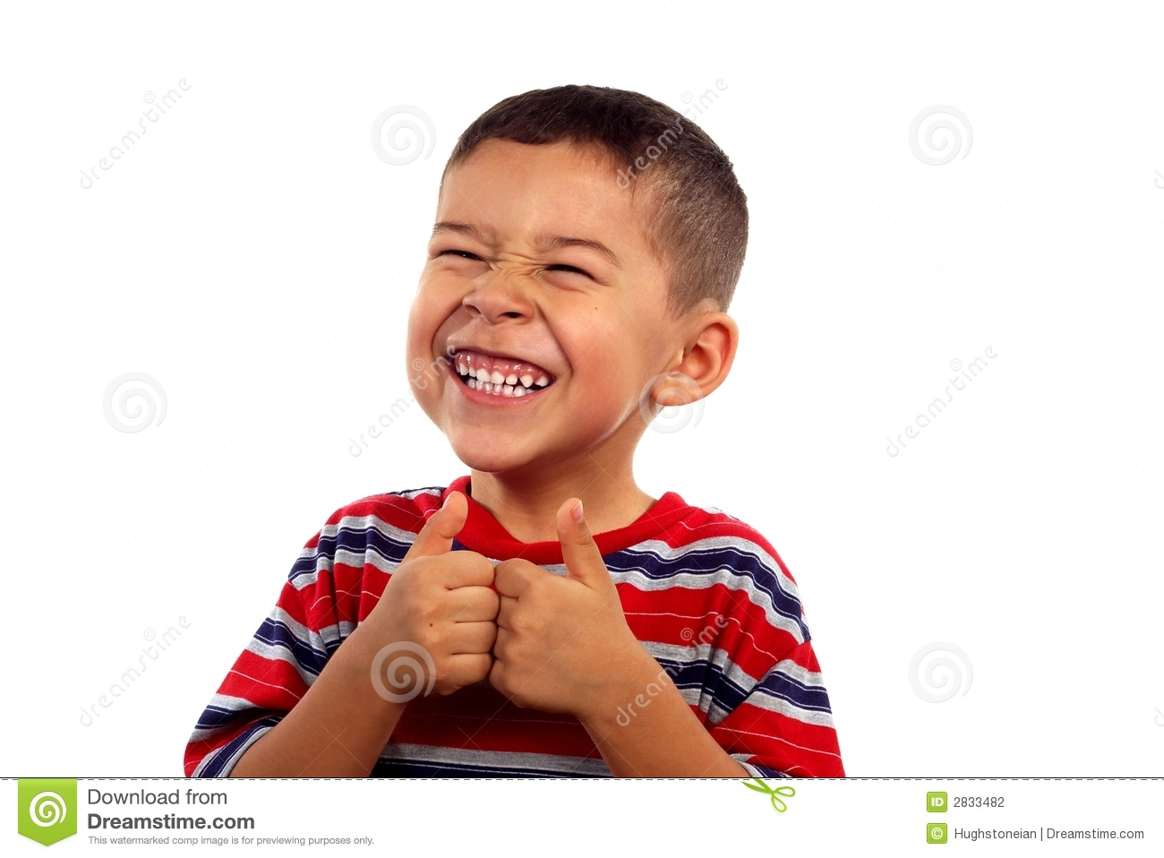 Boy Smiling With Thumbs Up Stock Photography - Image: 2833482