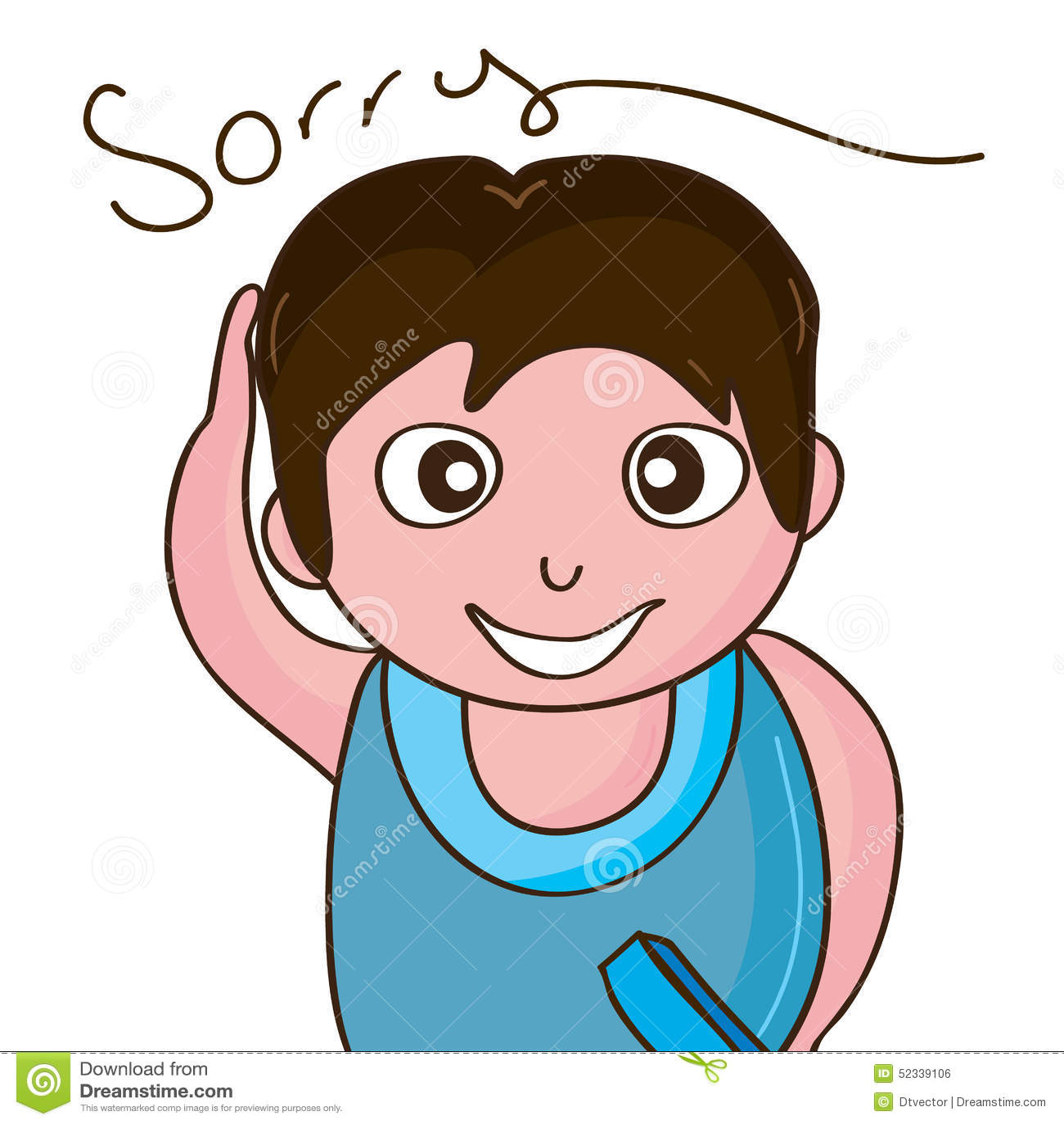 boy saying sorry