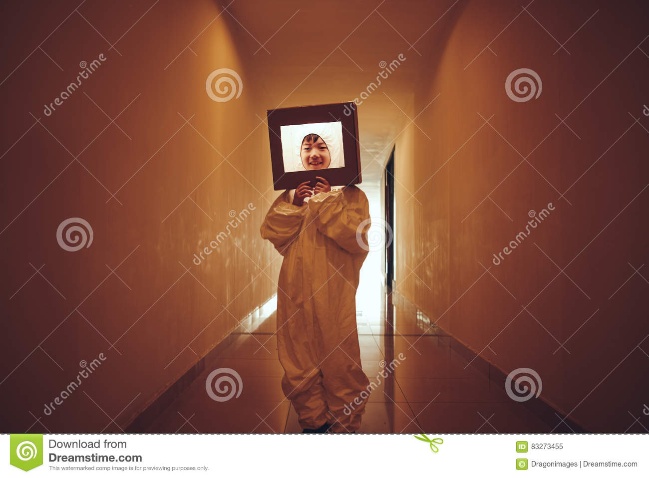 Boy in space suite stock image  Image of halloween, costume