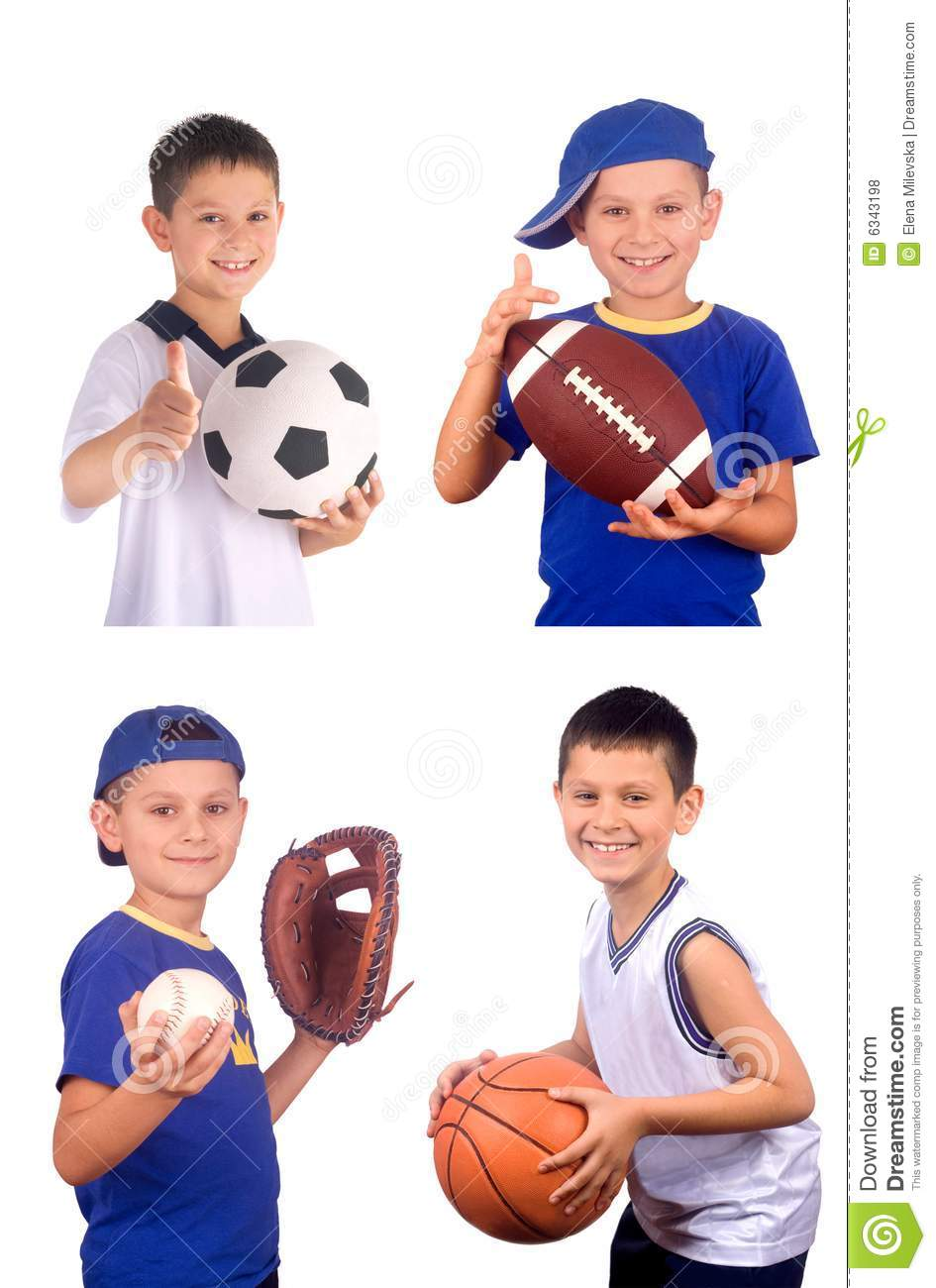 Boy and sports balls