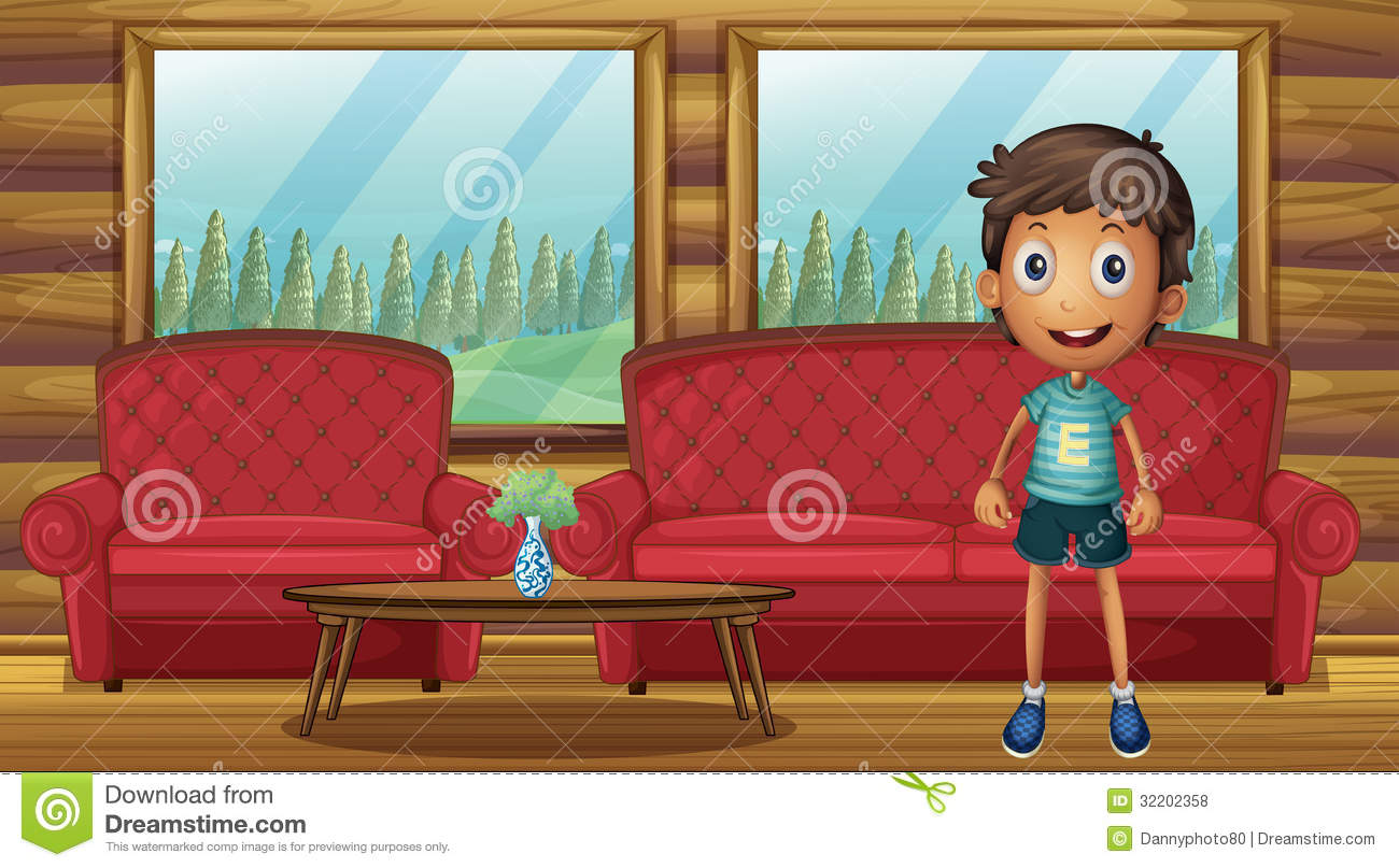 A Boy Standing Inside The House Royalty Free Stock Photos