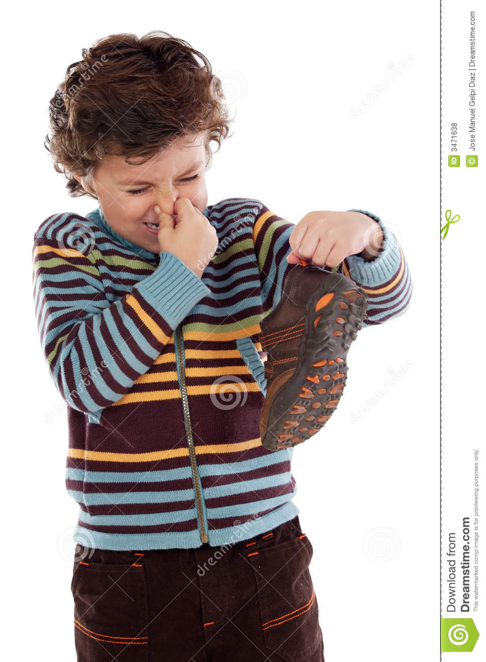 Boy With Stinky Shoe Royalty Free Stock Photos Image
