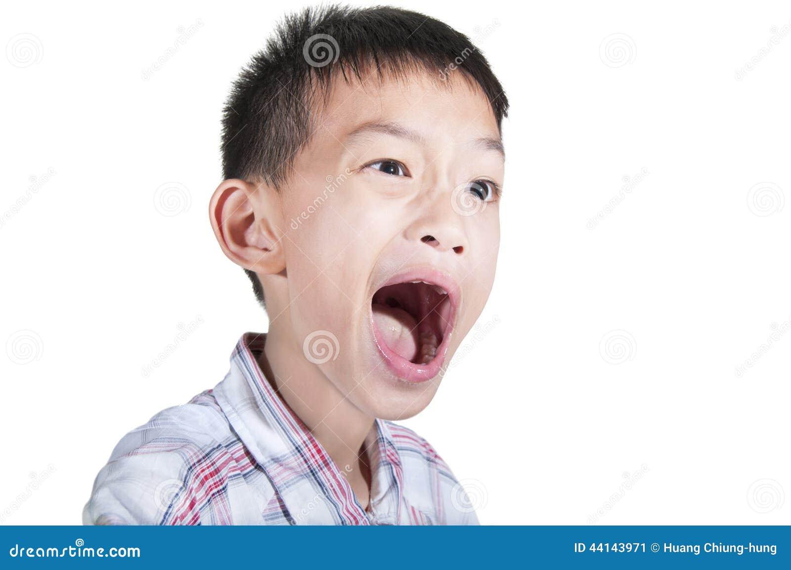 Boy surprised expression