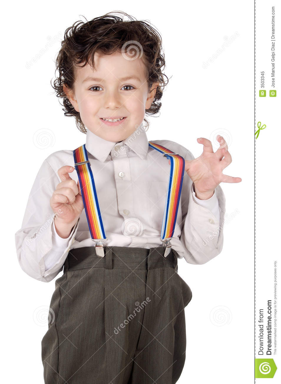 Boy With Suspenders Royalty Free Stock Photo Image 3503345