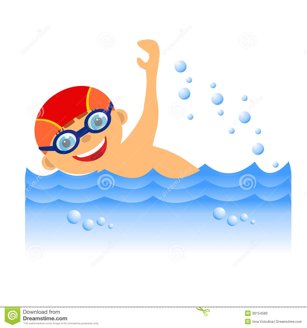 Clip Art Boy Swimming Boy swimmer