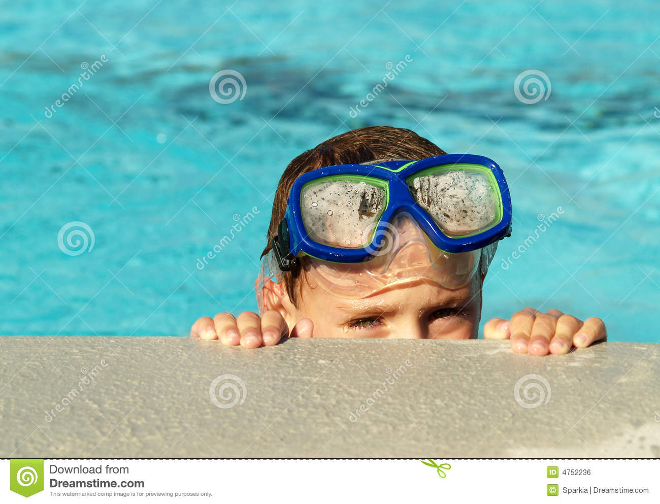 Download Boy in swimming pool stock photo. Image of holiday, recreation - 4752236