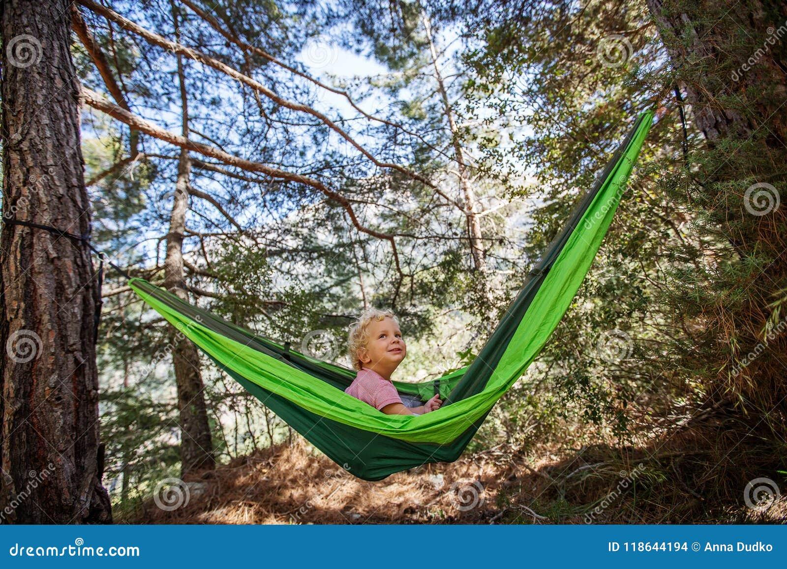 Swinging in a hamock