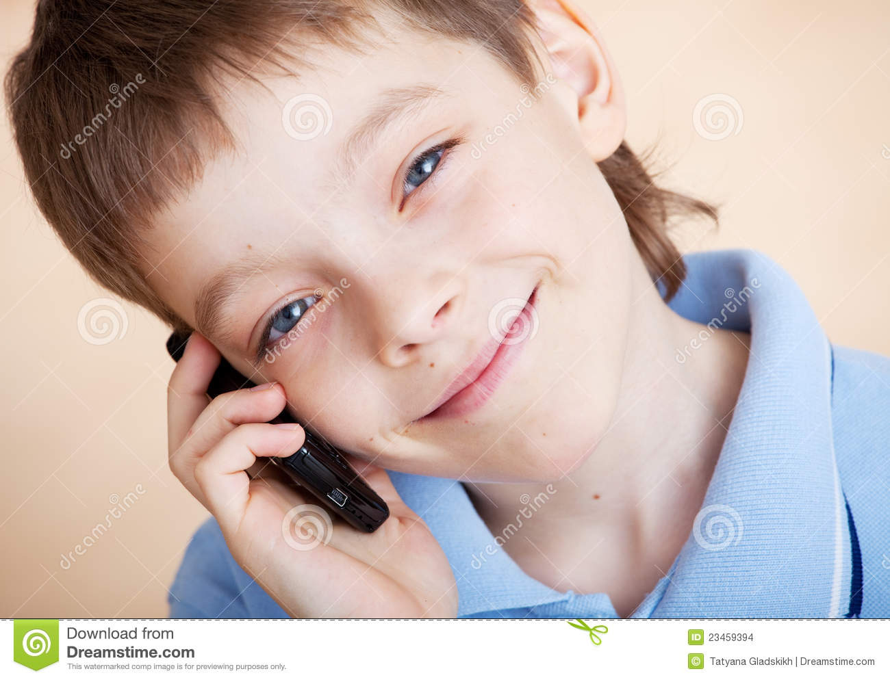 Boy, Talking On The Phone Stock Images - Image: 23459394