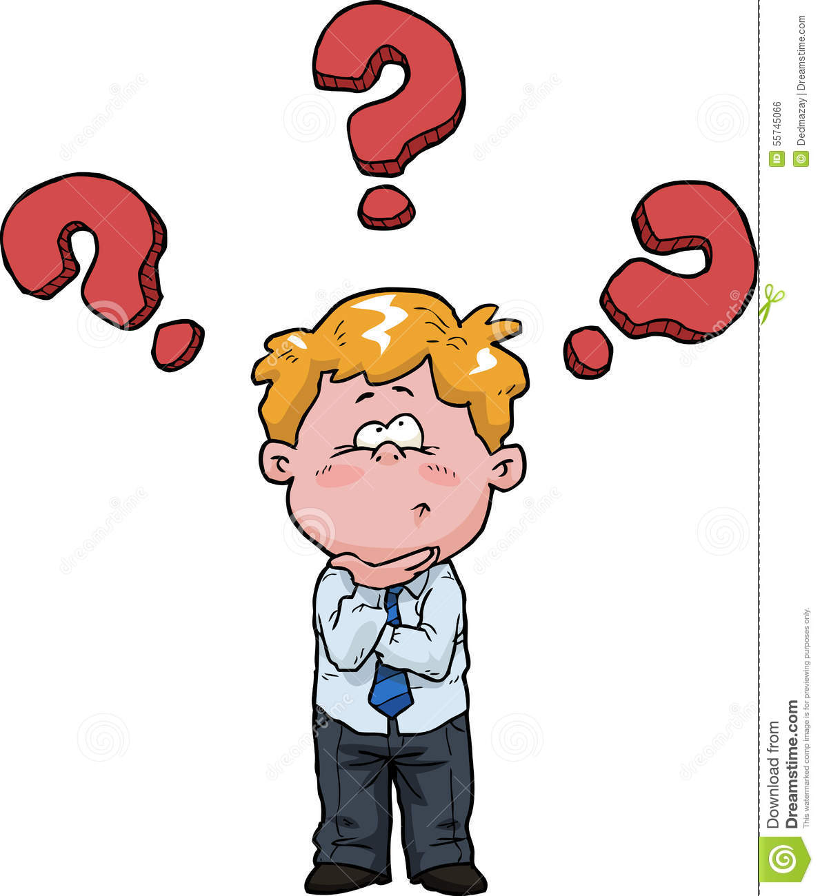 Boy Thinking Stock Vector - Image: 55745066
