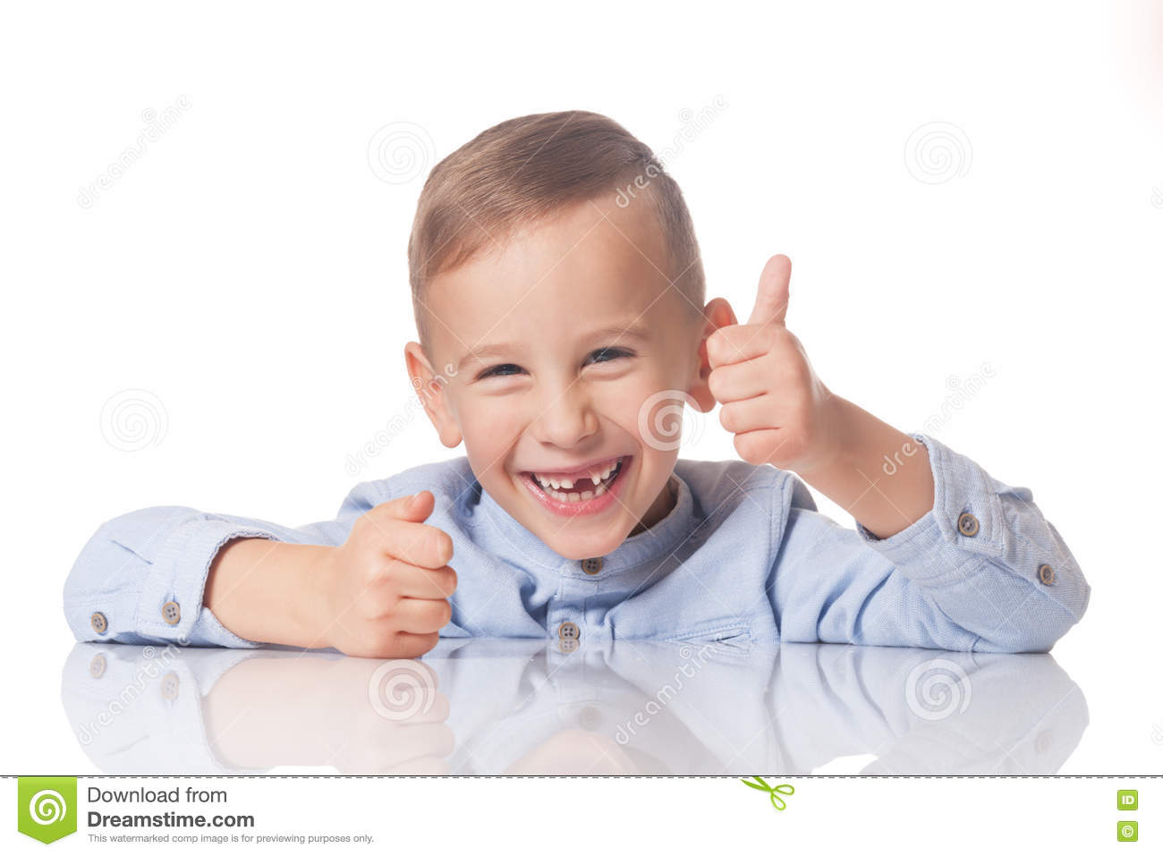 Download Boy with the thumb up stock photo. Image of caucasian - 80025282