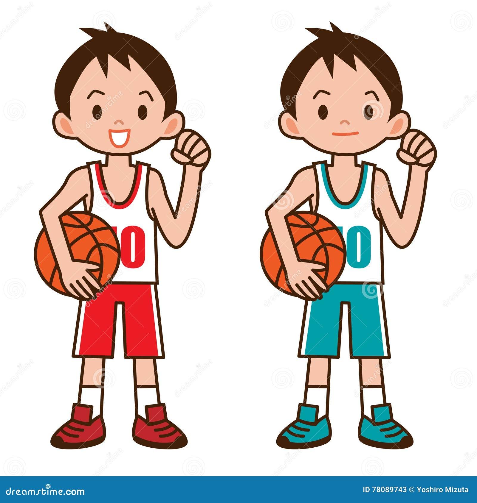 Boy To Play Basketball Stock Vector Illustration Of Sportsman