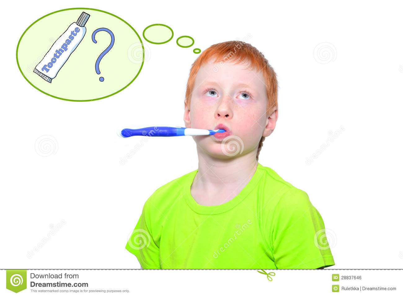 Boy and a toothbrush