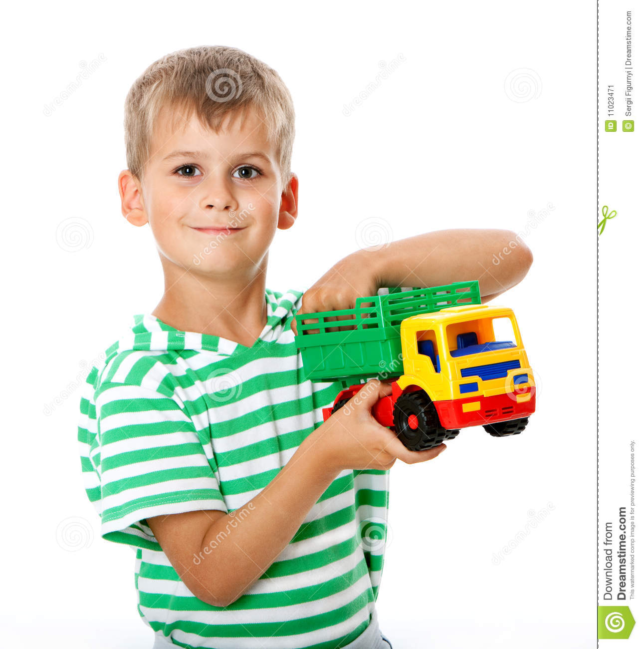 Boy With A Toy Stock Image Image 11023471