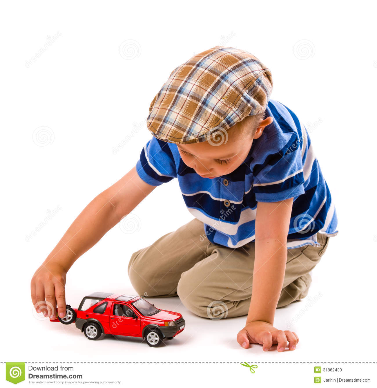 Little Boy With Toy Car : Boy and toy car stock photo image of cloth people young