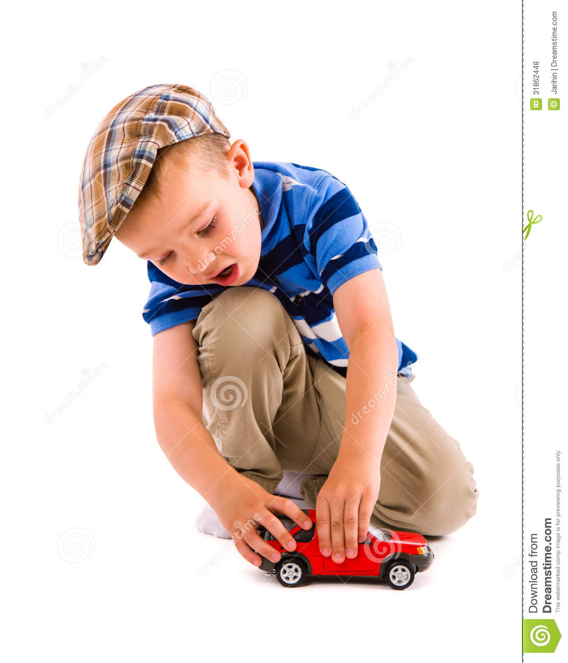 Little Boy With Toy Car : Boy and toy car royalty free stock photos image