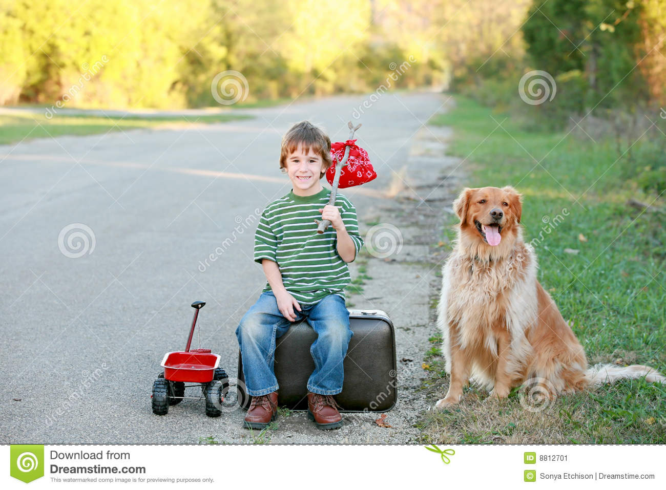 Boy Traveling Away From Home