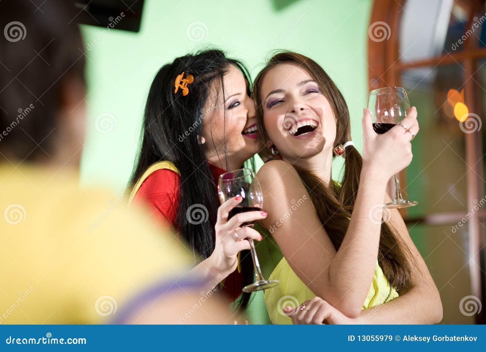 girl soaking boys wines a video