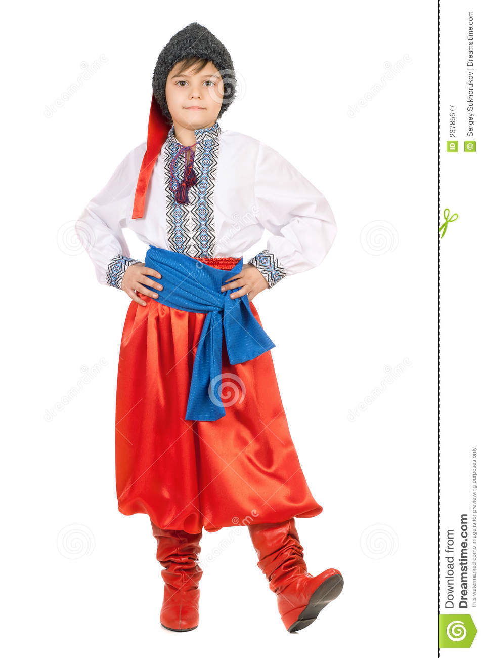 Boy In The Ukrainian National Costume Royalty Free Stock