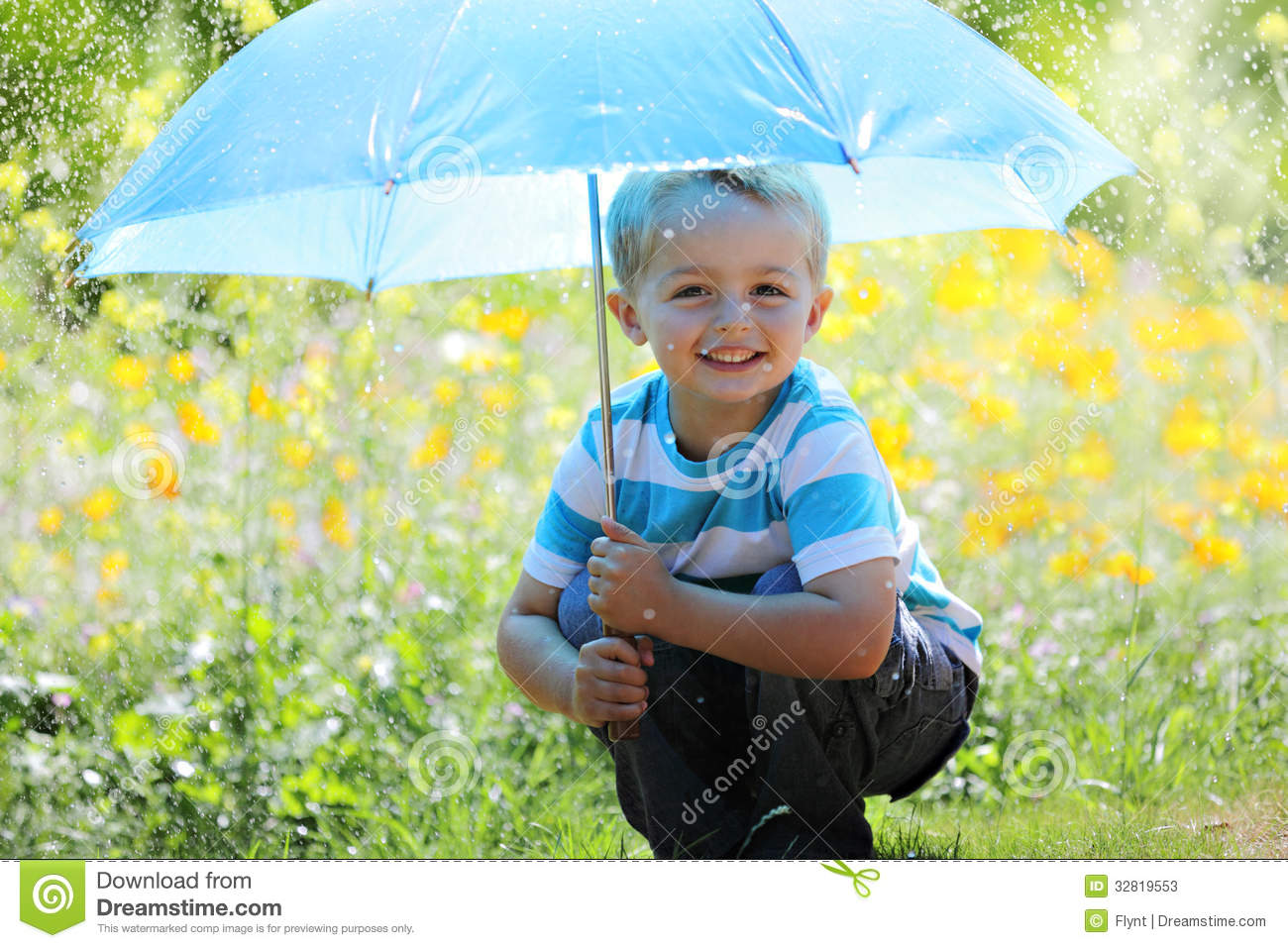 boy with umbrella stock image image of outdoors happiness 32819553
