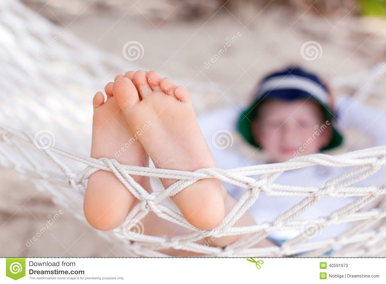 Boy At Vacation Stock Image Image Of Feet Outdoors