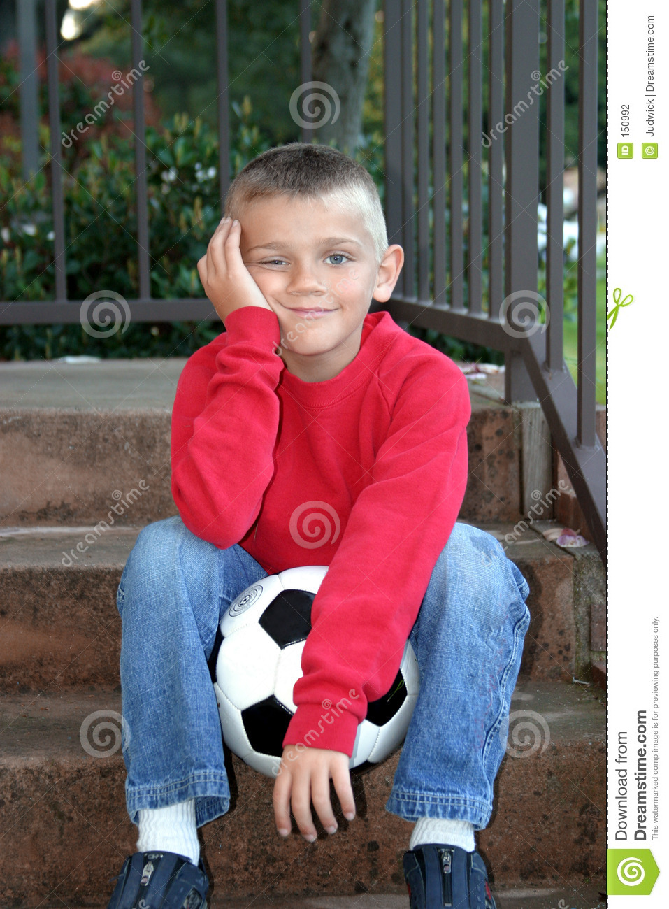 Boy Waiting to Play