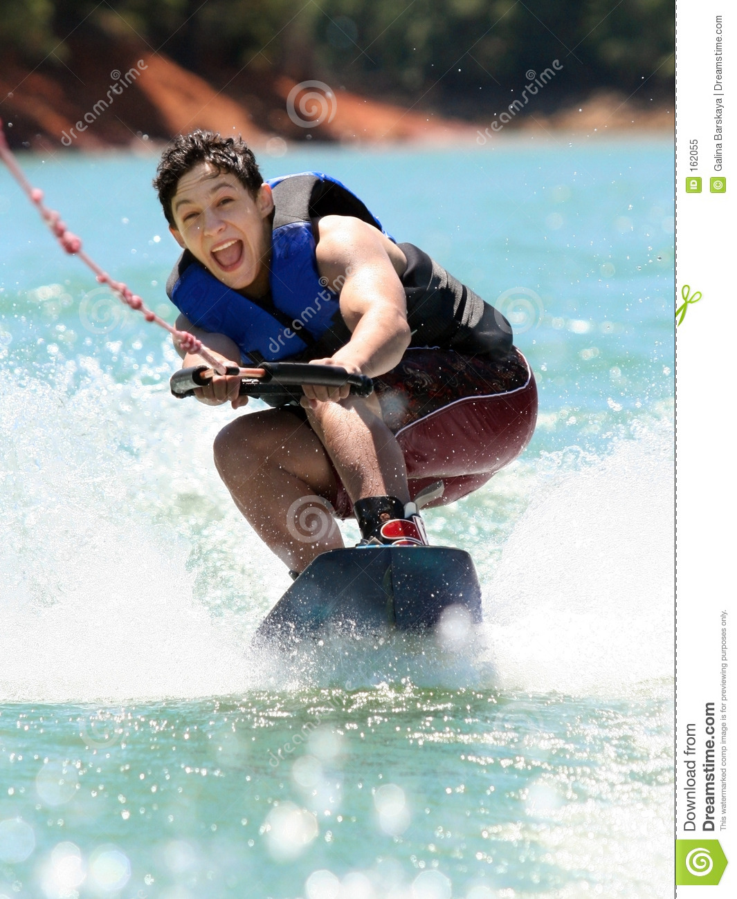 Boy Wake boarding