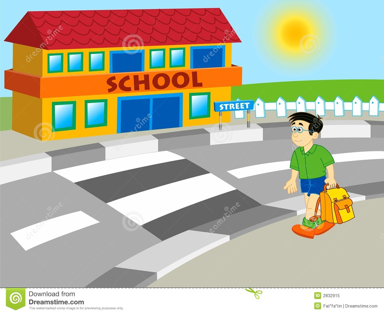 Boy Walking To School Royalty Free Stock Photo - Image: 2832915