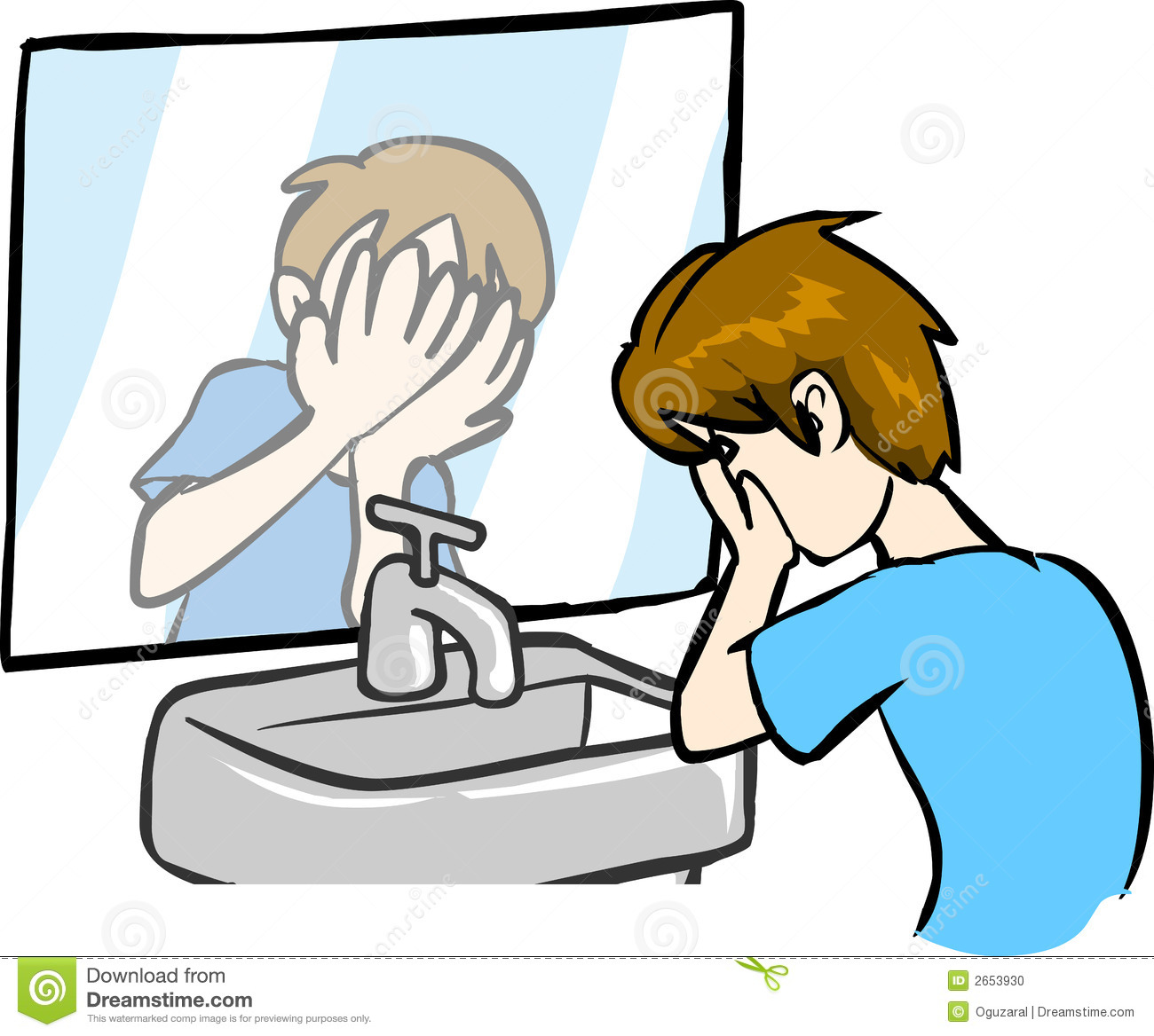 Boy Washing Face Stock Vector Illustration Of Design
