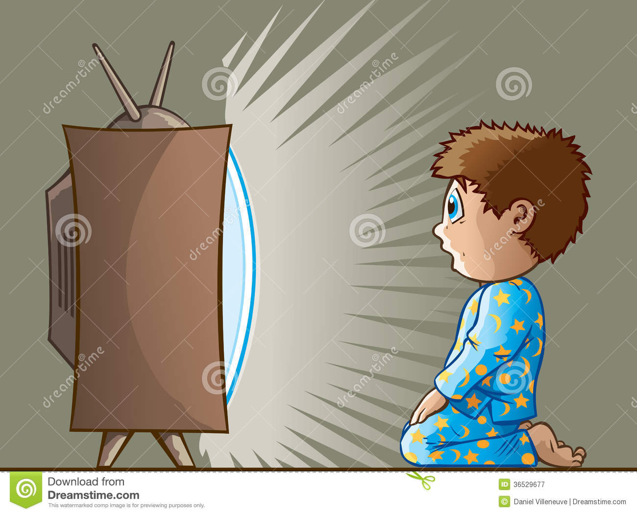 clipart boy watching tv - photo #12