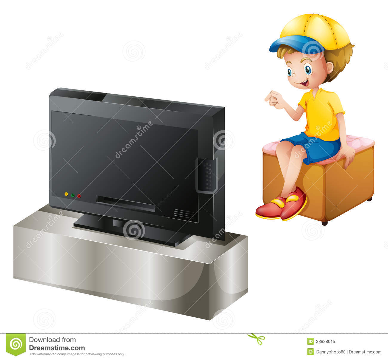 clipart boy watching tv - photo #15