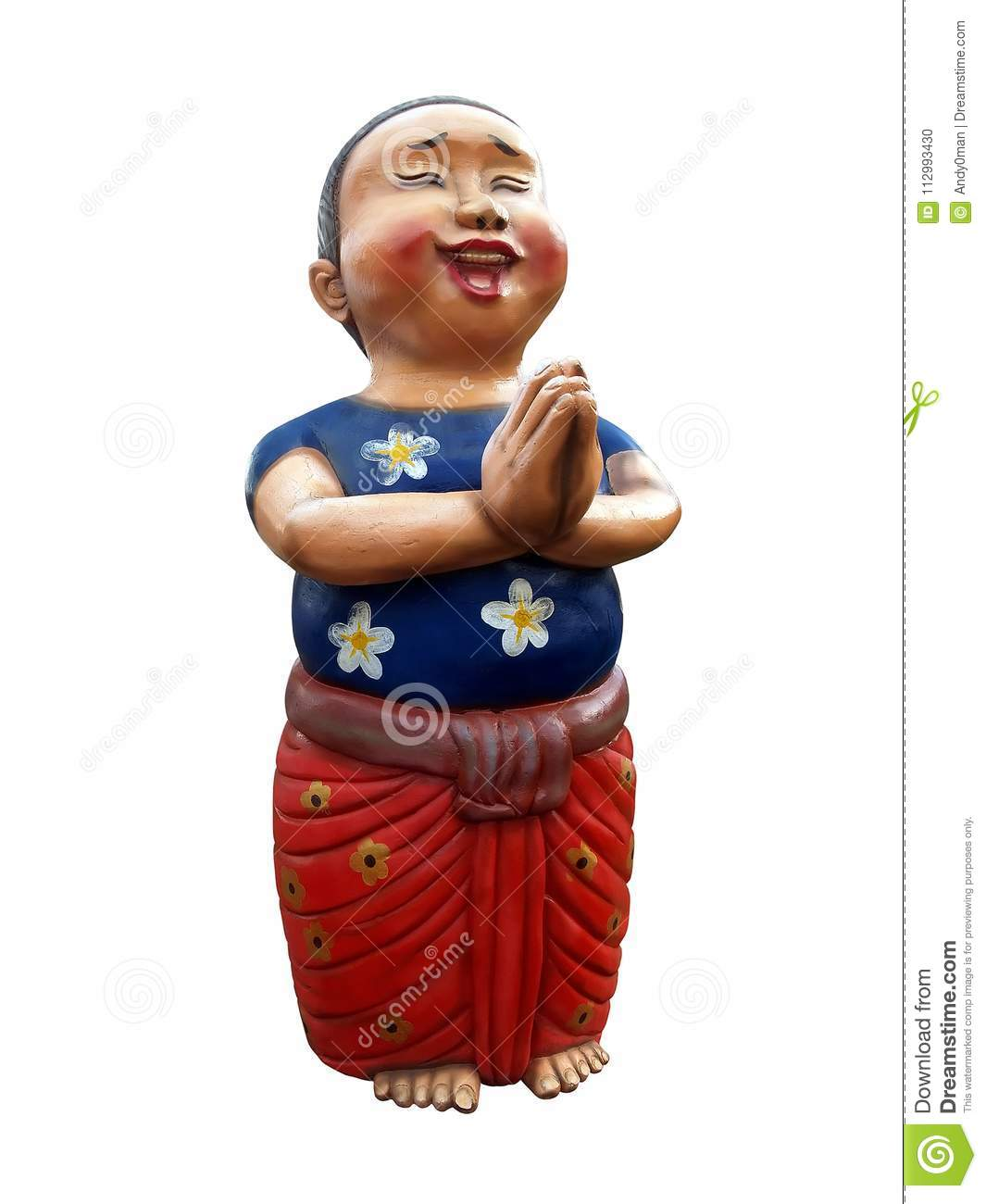 Boy wear blue t shirts and red loincloth smiling and put hands download boy wear blue t shirts and red loincloth smiling and put hands together in m4hsunfo
