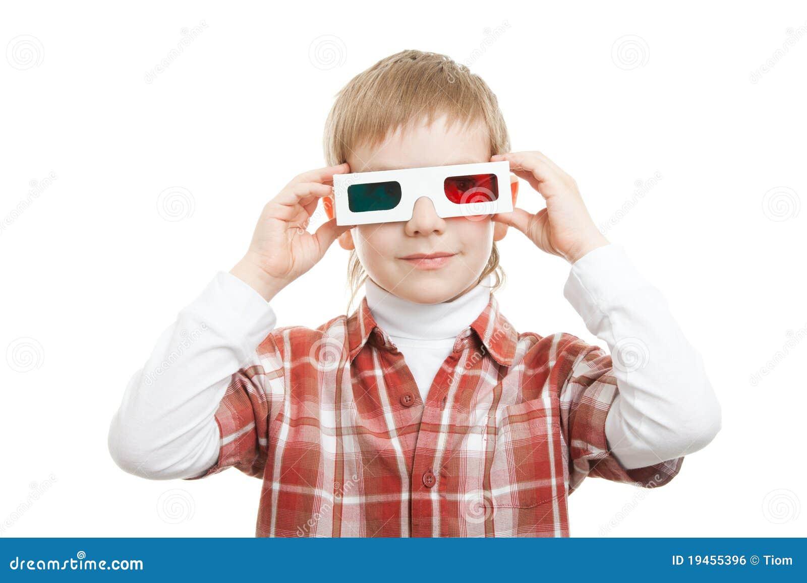 Boy Wearing 3d Glasses Royalty Free Stock Image - Image ...