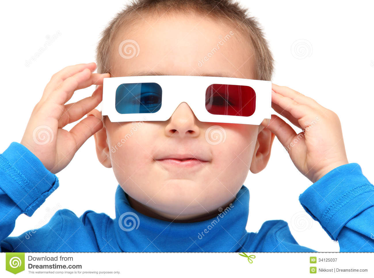Boy Wearing 3d Glasses Royalty Free Stock Photography ...