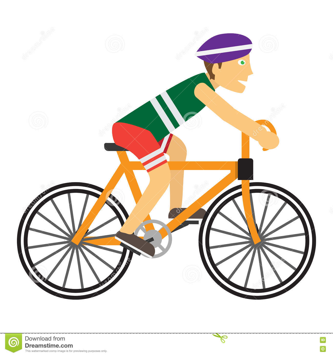 Boy Wearing Safety Helmet Riding Bike Stock Image ...