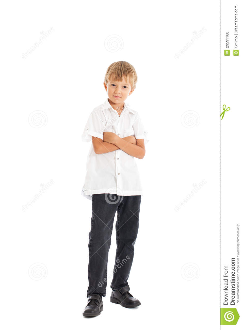 Boy Wearing White Shirt And Black Jeans Stock Photo Image Of