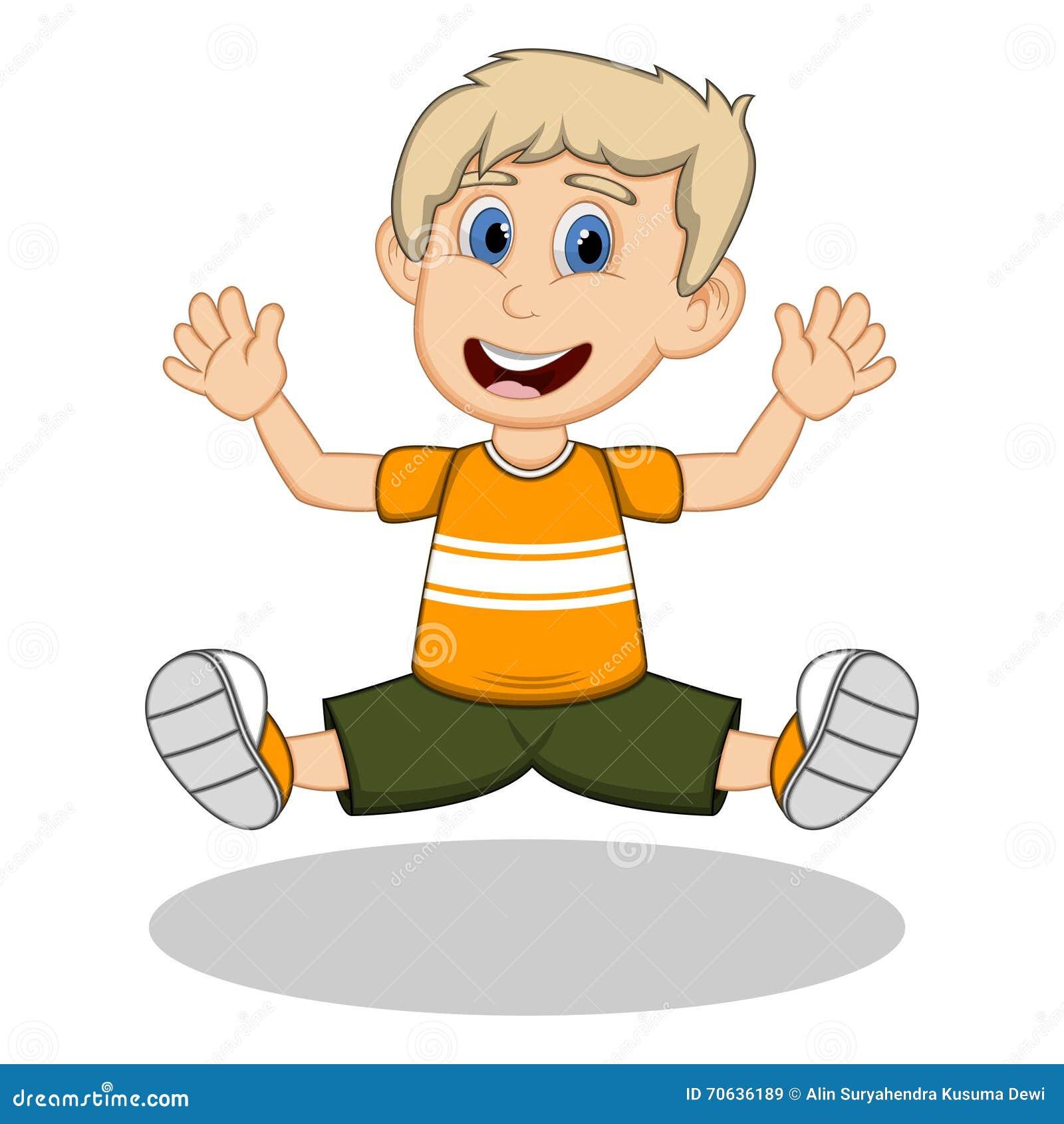 Jumping for joy cartoon
