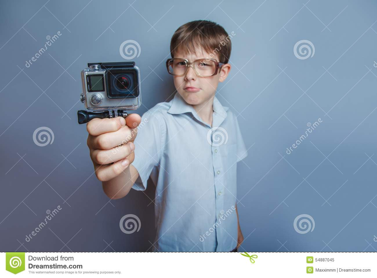 Teenager Boy 10 Years Of European Appearance Stock Image