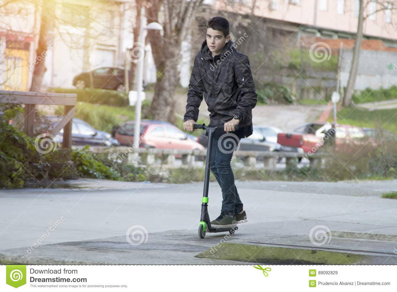 Boy Young Urban Style Stock Image Image Of Garage Jeans 89092829