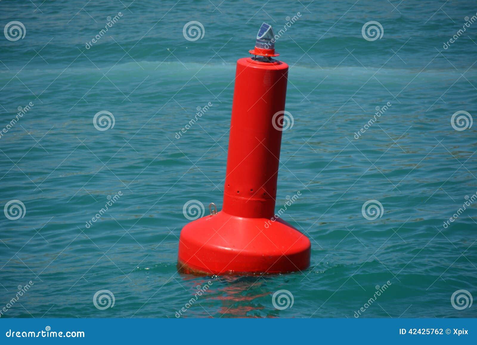 Boya amonestadora roja