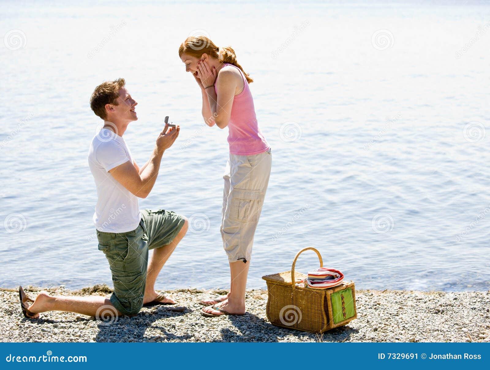 Boyfriend proposing to girlfriend