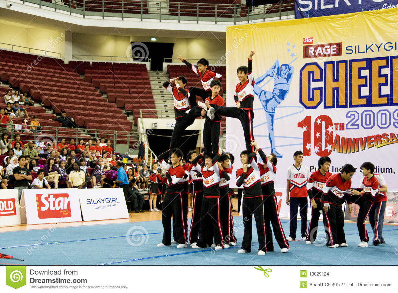 Boys' Cheerleading Action editorial stock image  Image of