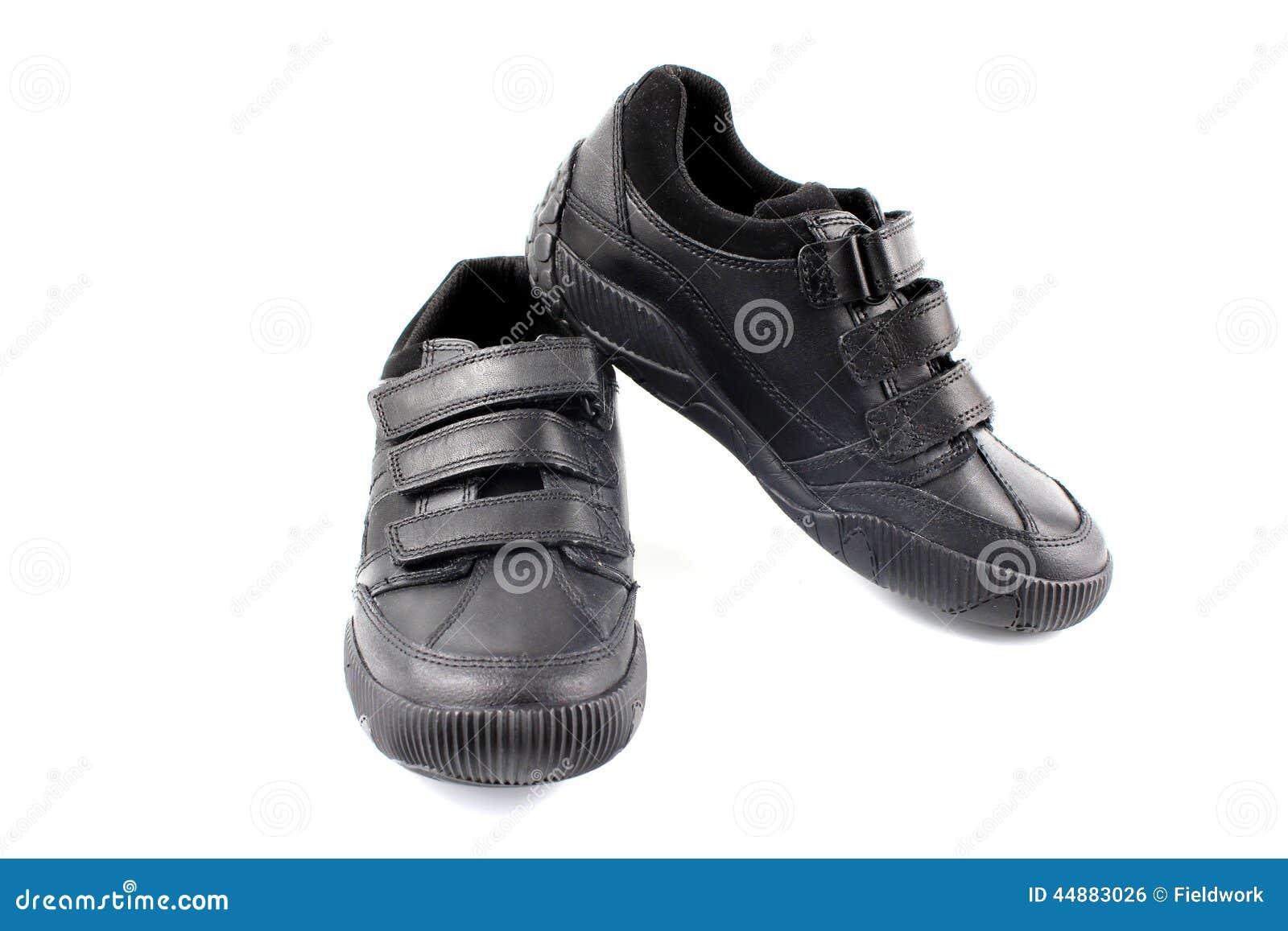 Boys Children S New Black School Shoes