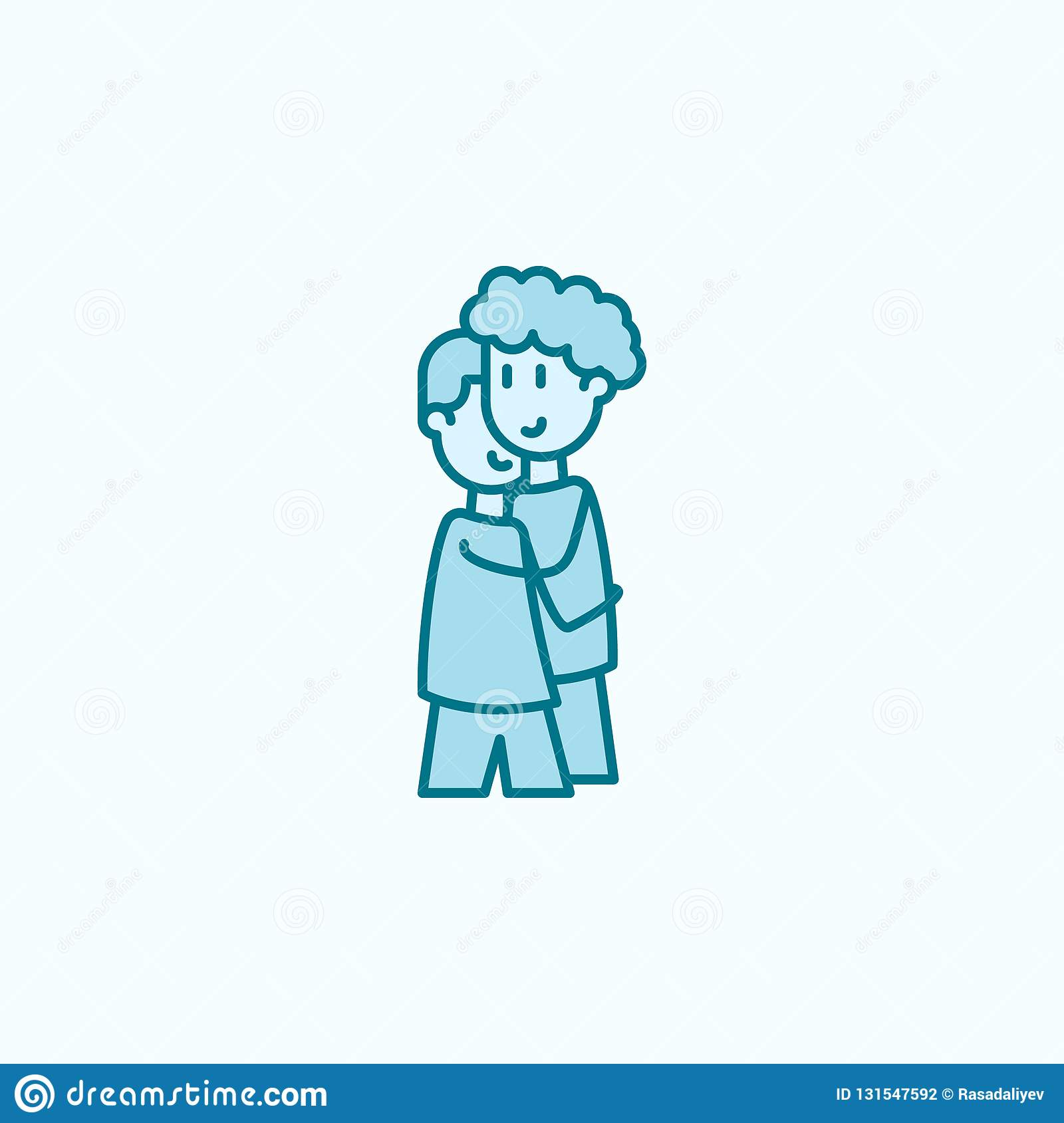 Boys Friends 2 Colored Line Icon Simple Colored Element Illustration Boys Friends Outline Symbol Design From Friendship Set On Stock Illustration Illustration Of Student Smile 131547592